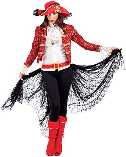 Der Piraten Elizabeth Swann Karibik Kostüm - Chiber - Freibeuter Piratenkostüm für Damen (L - Large)