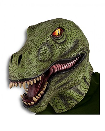 Tyrannosaurus Rex Dinosaurier Latexmaske als Faschings- & Halloween Maske