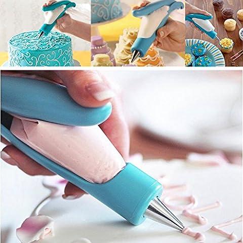 ewinever(R) Kitchen Pastry Icing Piping Bag Conseils de buse Fondant Cake Ensemble d'outils de pâte à sucre