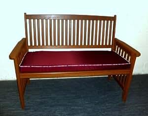 Zippy Sitzkissen, wasserabweisend, 135 x 44 cm, Weinrot gestreift Paspeln, für Haushalt und Garten