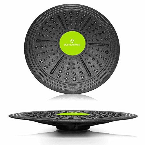 Tabla de equilibrio redonda »Circulum« / Plataforma de equilibrio / Tabla de coordinación para fitness y terapia / 40,5 cm