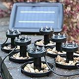 6submersible Lampes solaires de bassin–étanche Lampes pour éclairage de piscine, jardin, 2W par PK Vert