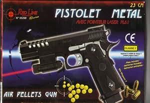 Ced - Pistolet à Billes 23 cm Métal avec Laser Red Line Pro 55298
