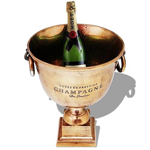 tidyard Champagner-Kühler Pokal Champanger Wein Schale Weinkühler Sektkühler Getränkekühler Aluminium