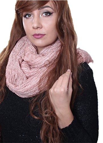 Prettystern - longue écharpe de lin 200 cm Lin & Modal Foulard fibre naturelle couleur unie - sélection des couleurs 4 rose