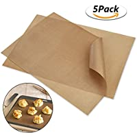 Tapetes para Hornear, Papel de Horno Usado para Pastel de Galletas, Pizza, Esteras Barbacoa, Reutilizable Fibra de Vidrio 40x30cm - 5 PCS