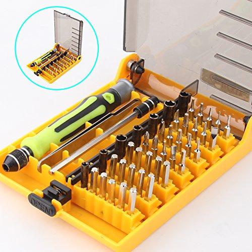 Preisvergleich Produktbild Hltd 45 in 1 Precision Torx Schraubendreher Set, Profi Portable Phone Reparatur Werkzeug Pinzette Kit, Verlängerung Welle für präzise Reparatur oder Wartung