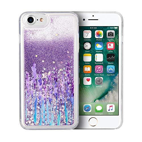 SumacLife Protective, Sparkling Waterfall Skin for Apple iPhone 7 or iPhone 8 - Purple Lavender Bliss