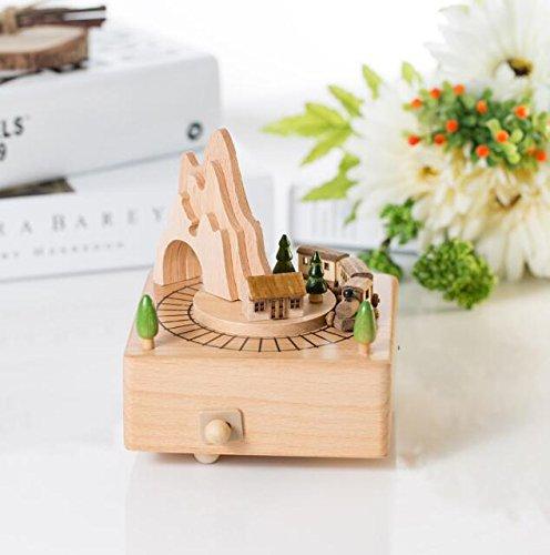 IU Desert Rose Schöne und Kreative Spieldosen Kreative Holz Handwerk Kleine Zug Design Spieluhr Für Geburtstagsgeschenk