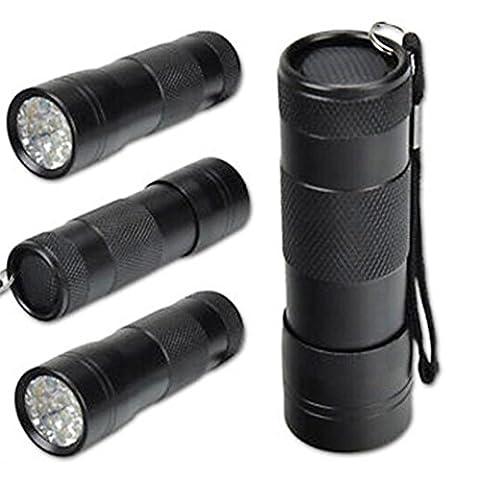 QUINTRA Mini Aluminium Uv Ultraviolett 9 Geführt Blacklight Taschenlampe Lampe Taschenlampe (Rosa Wiederaufladbare Vakuum)