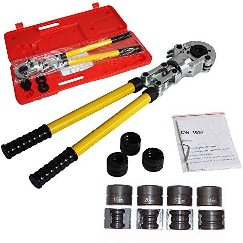 Pince à sertir professionnelle avec contour TH U PER & Multicouche Pince à Sertir pour Tube Contour avec Mors PER & Multicouche 16mm-20mm-25mm-32mm pour Tube PEX, Tube Composite (U)