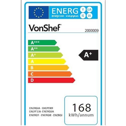 51re9EZkKML. SS500  - VonShef 85L Freestanding Under Counter Fridge Freezer With Reversible Door, Adjustable Temperature Control and Internal…