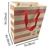 NimNik Luxury Bags Medium - [12 pack] 24 x 19 x 10 cm Shopping Paper Bag, Party Birthday Gift Bags