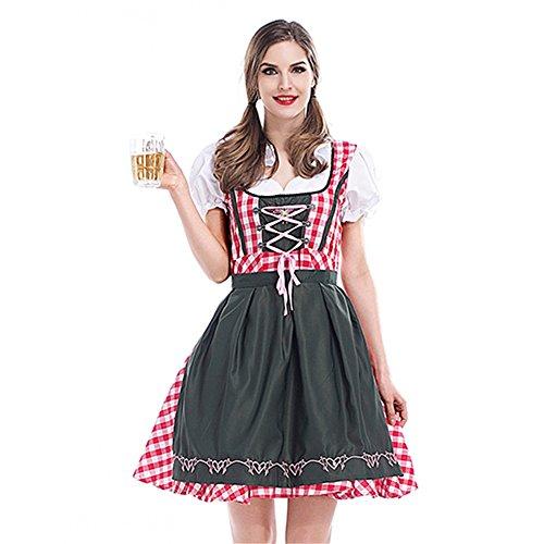Hukangyu1231 Deutsches Oktoberfest-Bayerisches Traditionelles Bier-Festival-Partei-Tanz-Kleid Damen Halloween Kostüm (Größe : XL)