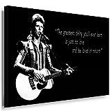 JULIA-ART QN. 60-3 David Bowie Bild auf Leinwand Deko ideen M - Format 70 - 50 cm