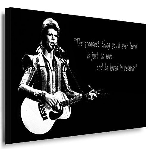 Qn Poster (Julia-art Leinwandbilder - David Bowie Bild 1 teilig - 60 mal 40 cm Leinwand auf Rahmen - sofort aufhängbar ! Wandbild XXL - Kunstdrucke QN.60-2)