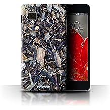 Carcasa/Funda STUFF4 dura para el LG Optimus G E975 / serie: Corteza - Gravilla/Ramas