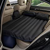 PETRICE Multifunctional Inflatable Car Mattress, Car Inflation Bed, Travel Air Bed Camping Car Back Seat,with Repair Pad,Air Pump For Travel