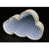HAB & GUT -L233- Lampara Tunel con Espejo Led en Forma de Nuve, Lampara Decorativa, Magica Luz Infinity Forma de Nube Blanca