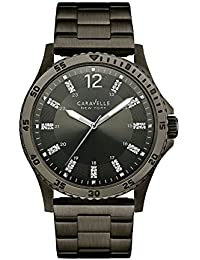 Caravelle New York Shades Of Grey Reloj de hombre 45z30-a138