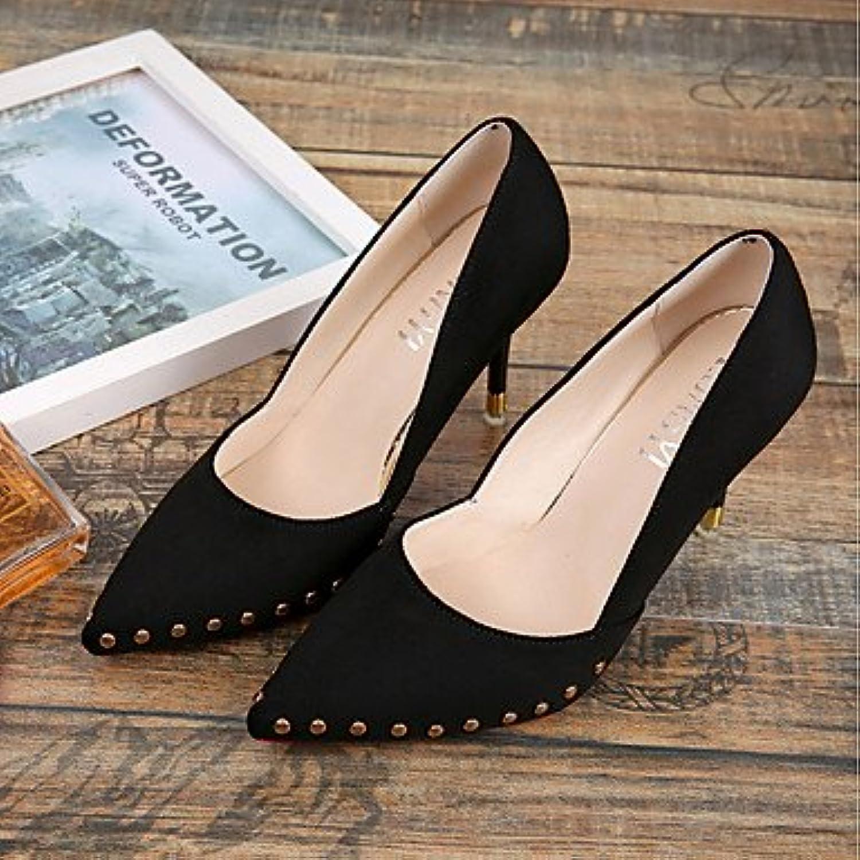 RTRY Zapatillas De Mujer &Amp; Flip-Flops Verano Chunky Heelblack Pu Confort Casual Blanco Negro Caminando Nosotros6.5...