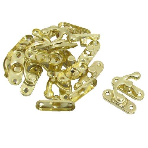 Sourcingmap - 10 coppia di bracci di sicurezza porta a battente famiglia tono oro serratura fibbia in metallo