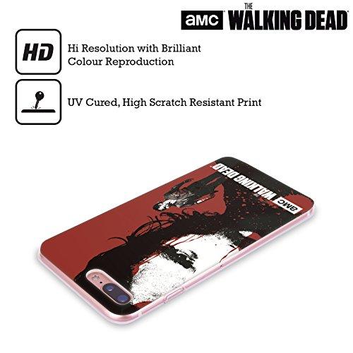 Ufficiale AMC The Walking Dead Rick Faccia Insanguinata Sangue Cover Morbida In Gel Per Apple iPhone 6 / 6s Rick Faccia Insanguinata