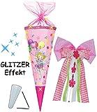 alles-meine.de GmbH mit 3-D Glitzer Effekt ! - Schultüte -  Prinzessin Lillifee  - 85 cm - 12 eckig - incl. große 3-D Effekt _ Schleife - Organza Abschluß - Zuckertüte - Nestle..