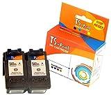 TS-Print 2er-Set Tintenpatronen ersetzt Canon 2X PG-540-XL schwarz Black