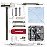 Kit de Réparation Montre Professionnel - Montre Bracelet Lien Pin Remover Kit de Réparation d'Outils de Watch Band pour Les Horlogers (11pcs)