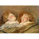 Juguetes de la vendimia, guardería y dos de los cuentos de hadas de los niños de dormir por Peter Paul Rubens, 1612, 250gsm polarmk tarjeta del arte A3 cartel de la reproducción