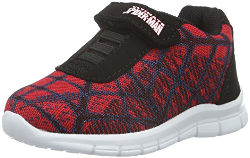 Spiderman Jungen Boys Kids Athletic Sport Low-Top, Schwarz (Red/Blk/Blk 031), 30 EU (Spider-man-klettverschluss)