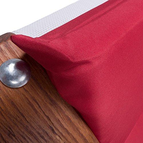 Lounge Gartenmöbel Set Malibu | Relaxsessel & 2er Sofa mit Armlehne, hoher Rückenlehne aus Holz | Gartenstuhl & Gartenbank mit Sitzauflagen rot - 8