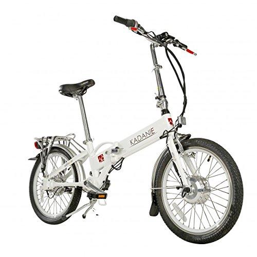 "Preisvergleich Produktbild Elektro-Faltrad ""Kardani"", 20 Zoll, 3-Gang, 6,6 Ah Aluminiumrahmen, weiß, Kardanantrieb"