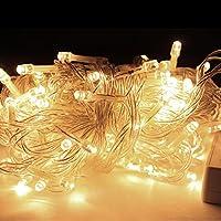 100-500LED Lichterkette Halloween Weihnacht Außen Warmweiß EU 10-100M Stecker DE