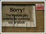 imagenation Banksy 'lo siento Lifestyle'-60cm x 80cm-Impresión En Láminas autoadhesivas papel Póster