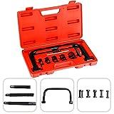 Todeco - Compresseur de Ressorts de Soupape, Boite de 11 Pièces pour Compresseur de Ressort à Soupape - Matériau: Acier C45 - Taille de la valise: 33,5 x 19,5 x 5,5 cm - 11 pièces, avec une mallette rouge