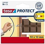 tesa Protect® Schutzpuffer - 10 x 10 mm - braun - 57899-00001 Stoßdämpfend , Schutz für Türen und Fenster