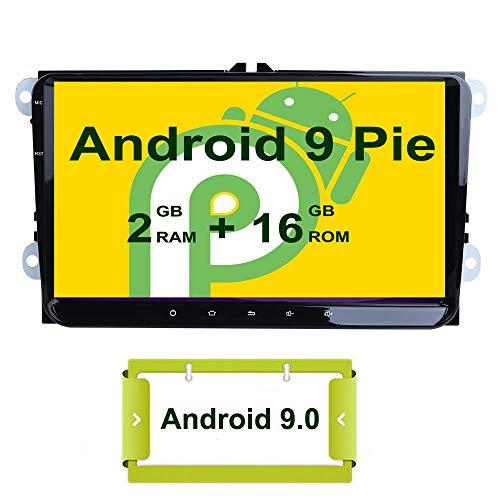 Smartnavi 9 Zoll Android 9.0 Steuereinheit für VW Golf Polo Passat Tiguan Jetta Auto Stereo Video Receiver Radio GPS Navi Unterstützung Mirror Link/WiFi/Bluetooth/OBD2 DAB+