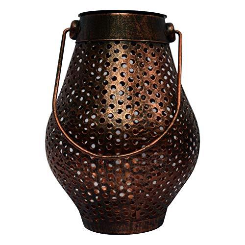 Chanhan Solar-Laterne zum Aufhängen, dekorative Atmosphäre, hängende Lichter, rost- und korrosionsbeständig, tolle Outdoor-Rasen-Dekoration für Hof- und Gehweg-Partys Bronze