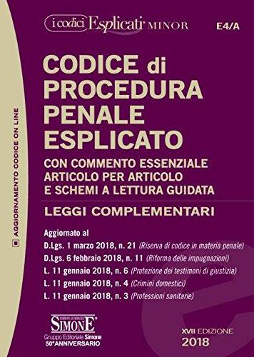 scaricare ebook gratis Codice di procedura penale esplicato e leggi complementari. Ediz. minore. Con aggiornamento online PDF Epub