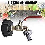 Allowevt IBC Tote Tank Lebensmittelqualität Drain Adapter 1/2'Gartenschlauch Wasserhahn Wasseranschluss Ersatz Tankschlauch richly