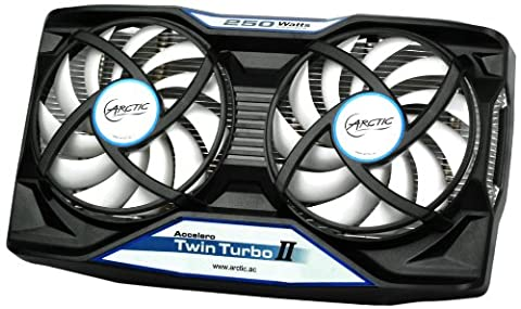ARCTIC Accelero Twin Turbo II - Graphics Card Cooler for Efficient GPU, RAM- and VRM-Cooling (Twin Turbo Fan)