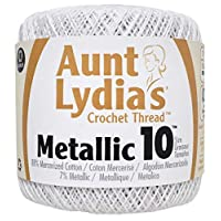 Coats Crochet Crochet Thread, White/Pearl, 10