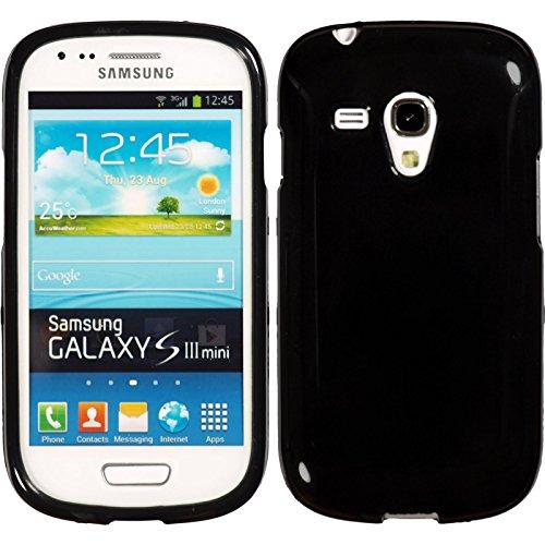 PhoneNatic Case kompatibel mit Samsung Galaxy S3 Mini - schwarz Silikon Hülle Candy Cover