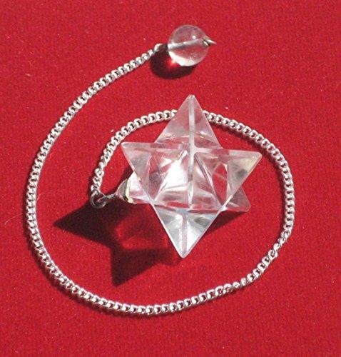 Ruten - Pendel - Tensoren|Pendel - Merkaba-Pendel, Bergkristall