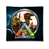 Ark Survival Evolved ARPG Baumwoll-Satin-Kissenbezug (45,7 x 45,7 cm)