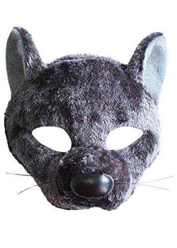 Graue Ratte Kostüm Maske mit (Zubehör Ratte Kostüm)