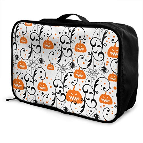 Gepäcktasche Reisetasche sghshsgh Men & Women Happy Halloween Party Pumpkin Portable Luggage Duffel Bag Lightweight Large Capacity Travel Bags Carry-on In Luggage Handle