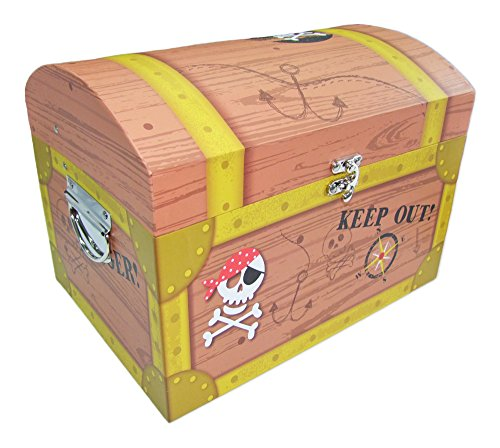 Piraten Schatzkiste Groß - Tolle Schatztruhen für Geburtstag, Hochzeit oder Mottoparty - Box, Truhe, Kiste für kleine und große Piraten
